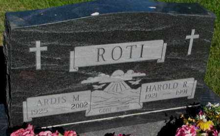 ROTI, HAROLD R. - Jerauld County, South Dakota | HAROLD R. ROTI - South Dakota Gravestone Photos