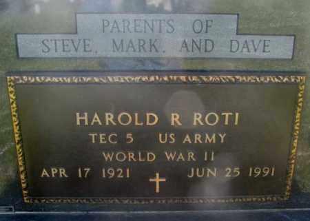ROTI, HAROLD R. (WW II) - Jerauld County, South Dakota | HAROLD R. (WW II) ROTI - South Dakota Gravestone Photos