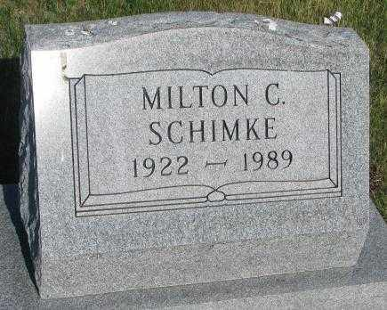 SCHIMKE, MILTON C. - Jerauld County, South Dakota | MILTON C. SCHIMKE - South Dakota Gravestone Photos
