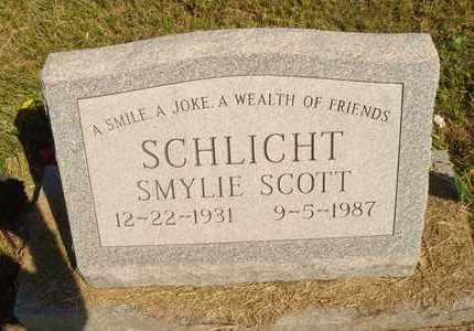 SCHLICHT, SMYLIE SCOTT - Jerauld County, South Dakota | SMYLIE SCOTT SCHLICHT - South Dakota Gravestone Photos