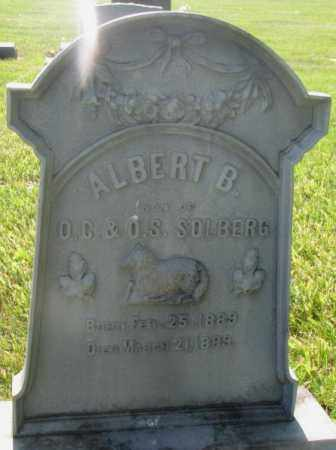 SOLBERG, ALBERT B. - Jerauld County, South Dakota | ALBERT B. SOLBERG - South Dakota Gravestone Photos