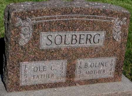 SOLBERG, B. OLINE - Jerauld County, South Dakota | B. OLINE SOLBERG - South Dakota Gravestone Photos