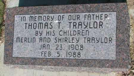 TRAYLOR, THOMAS T. - Jerauld County, South Dakota | THOMAS T. TRAYLOR - South Dakota Gravestone Photos