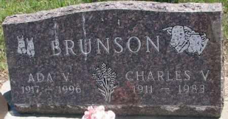 BRUNSON, ADA V. - Jones County, South Dakota | ADA V. BRUNSON - South Dakota Gravestone Photos