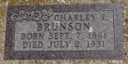 BRUNSON, CHARLEY E. - Jones County, South Dakota | CHARLEY E. BRUNSON - South Dakota Gravestone Photos