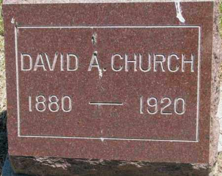 CHURCH, DAVID A. - Jones County, South Dakota | DAVID A. CHURCH - South Dakota Gravestone Photos