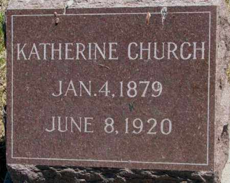 CHURCH, KATHERINE - Jones County, South Dakota   KATHERINE CHURCH - South Dakota Gravestone Photos
