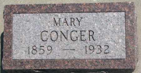 CONGER, MARY - Jones County, South Dakota | MARY CONGER - South Dakota Gravestone Photos