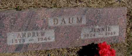 DAUM, ANDREW - Jones County, South Dakota | ANDREW DAUM - South Dakota Gravestone Photos