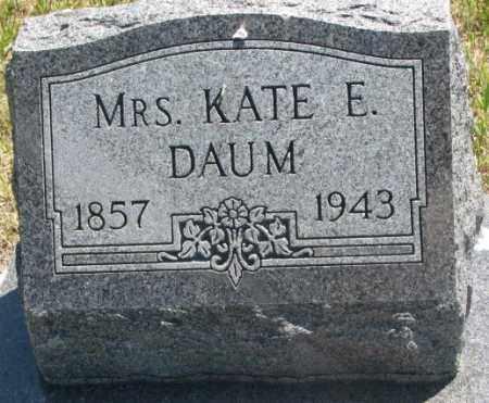 DAUM, KATE E. - Jones County, South Dakota | KATE E. DAUM - South Dakota Gravestone Photos