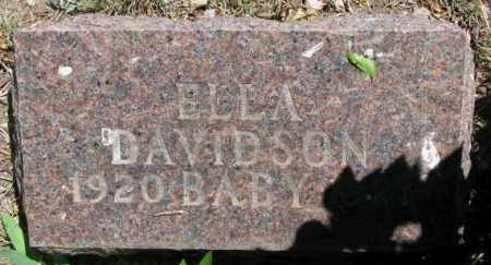 DAVIDSON, ELLA - Jones County, South Dakota | ELLA DAVIDSON - South Dakota Gravestone Photos