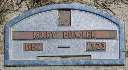 FOWLER, MARY - Jones County, South Dakota | MARY FOWLER - South Dakota Gravestone Photos