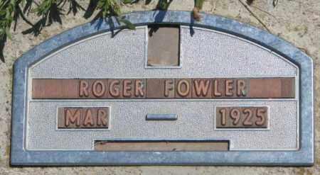 FOWLER, ROGER - Jones County, South Dakota | ROGER FOWLER - South Dakota Gravestone Photos