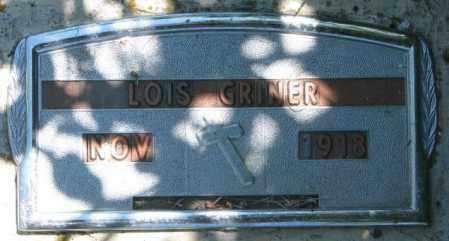 GRINER, LOIS - Jones County, South Dakota | LOIS GRINER - South Dakota Gravestone Photos