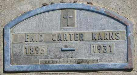 KARNS, ENID - Jones County, South Dakota | ENID KARNS - South Dakota Gravestone Photos