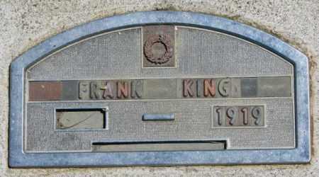 KING, FRANK - Jones County, South Dakota   FRANK KING - South Dakota Gravestone Photos