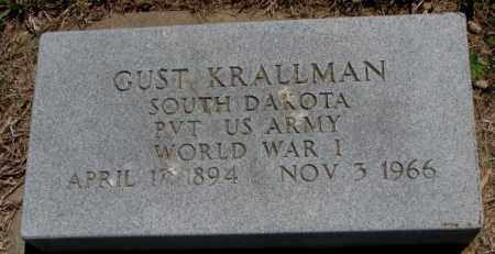 KRALLMAN, GUST - Jones County, South Dakota | GUST KRALLMAN - South Dakota Gravestone Photos