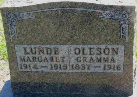 LUNDE, MARGARET - Jones County, South Dakota | MARGARET LUNDE - South Dakota Gravestone Photos