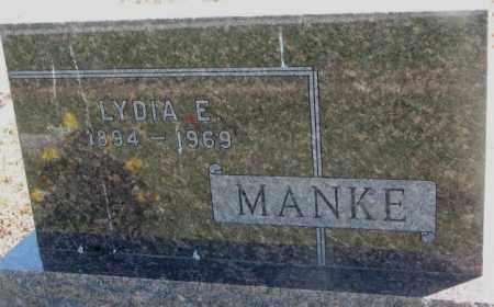 MANKE, LYDIA E. - Jones County, South Dakota | LYDIA E. MANKE - South Dakota Gravestone Photos