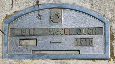 MCCULLOUGH, ELLA - Jones County, South Dakota | ELLA MCCULLOUGH - South Dakota Gravestone Photos