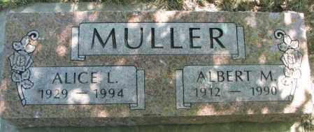 MULLER, ALICE L. - Jones County, South Dakota | ALICE L. MULLER - South Dakota Gravestone Photos