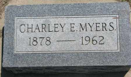 MYERS, CHARLEY E. - Jones County, South Dakota   CHARLEY E. MYERS - South Dakota Gravestone Photos