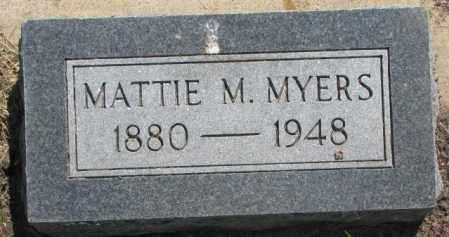 MYERS, MATTIE M. - Jones County, South Dakota   MATTIE M. MYERS - South Dakota Gravestone Photos