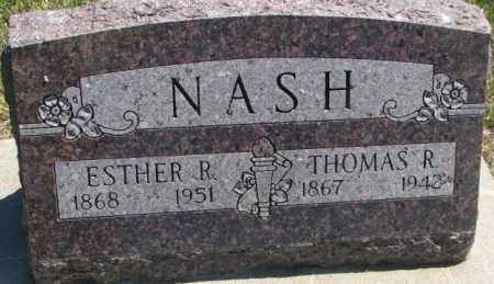 NASH, ESTHER R. - Jones County, South Dakota | ESTHER R. NASH - South Dakota Gravestone Photos