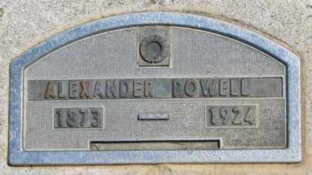 POWELL, ALEXANDER - Jones County, South Dakota | ALEXANDER POWELL - South Dakota Gravestone Photos