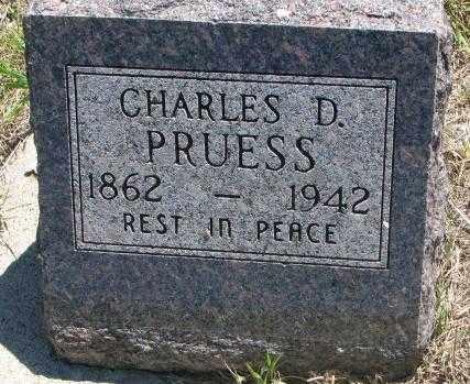 PRUESS, CHARLES D. - Jones County, South Dakota | CHARLES D. PRUESS - South Dakota Gravestone Photos