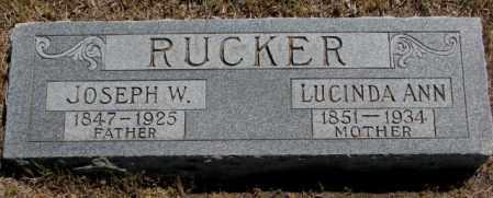 RUCKER, LUCINDA ANN - Jones County, South Dakota | LUCINDA ANN RUCKER - South Dakota Gravestone Photos