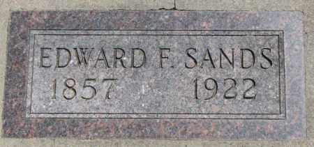 SANDS, EDWARD F. - Jones County, South Dakota   EDWARD F. SANDS - South Dakota Gravestone Photos