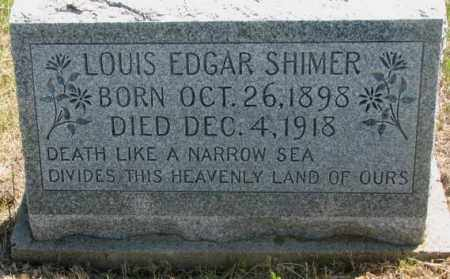 SHIMER, LOUIS EDGAR - Jones County, South Dakota | LOUIS EDGAR SHIMER - South Dakota Gravestone Photos