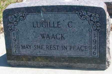 WAACK, LUCILLE C. - Jones County, South Dakota | LUCILLE C. WAACK - South Dakota Gravestone Photos