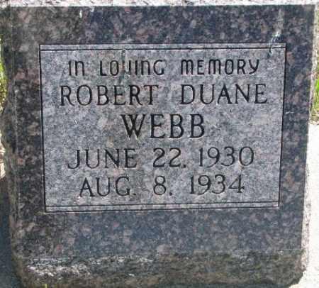 WEBB, ROBERT DUANE - Jones County, South Dakota | ROBERT DUANE WEBB - South Dakota Gravestone Photos