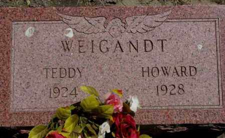 WEIGANDT, HOWARD - Jones County, South Dakota | HOWARD WEIGANDT - South Dakota Gravestone Photos