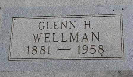 WELLMAN, GLENN H. - Jones County, South Dakota | GLENN H. WELLMAN - South Dakota Gravestone Photos