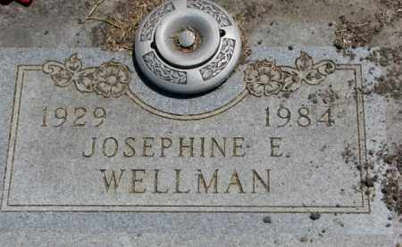 WELLMAN, JOSEPHINE E. - Jones County, South Dakota | JOSEPHINE E. WELLMAN - South Dakota Gravestone Photos