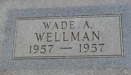 WELLMAN, WADE A. - Jones County, South Dakota | WADE A. WELLMAN - South Dakota Gravestone Photos