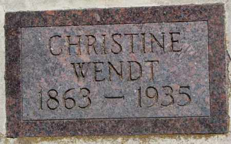 WENDT, CHRISTINE - Jones County, South Dakota | CHRISTINE WENDT - South Dakota Gravestone Photos