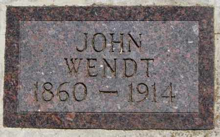 WENDT, JOHN - Jones County, South Dakota | JOHN WENDT - South Dakota Gravestone Photos