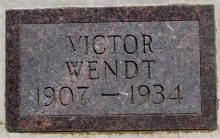 WENDT, VICTOR - Jones County, South Dakota   VICTOR WENDT - South Dakota Gravestone Photos