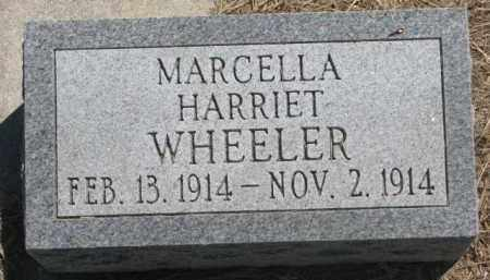 WHEELER, MARCELLA HARRIET - Jones County, South Dakota | MARCELLA HARRIET WHEELER - South Dakota Gravestone Photos