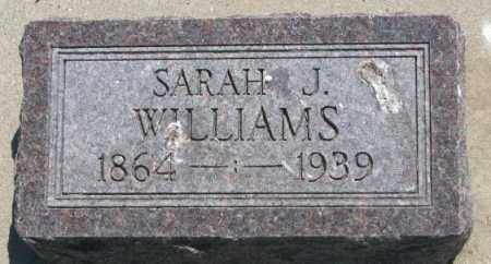 WILLIAMS, SARAH J. - Jones County, South Dakota | SARAH J. WILLIAMS - South Dakota Gravestone Photos