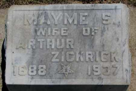 ZICKRICK, MAYME S. - Jones County, South Dakota | MAYME S. ZICKRICK - South Dakota Gravestone Photos