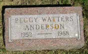 WATTERS ANDERSON, PEGGY - Kingsbury County, South Dakota | PEGGY WATTERS ANDERSON - South Dakota Gravestone Photos