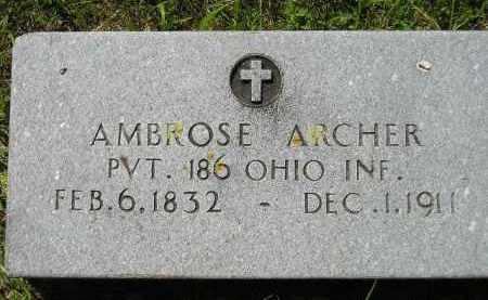 ARCHER, AMBROSE - Kingsbury County, South Dakota | AMBROSE ARCHER - South Dakota Gravestone Photos
