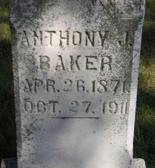 BAKER, ANTHONY J. - Kingsbury County, South Dakota   ANTHONY J. BAKER - South Dakota Gravestone Photos