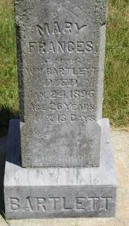 BARTLETT, MARY FRANCES - Kingsbury County, South Dakota   MARY FRANCES BARTLETT - South Dakota Gravestone Photos