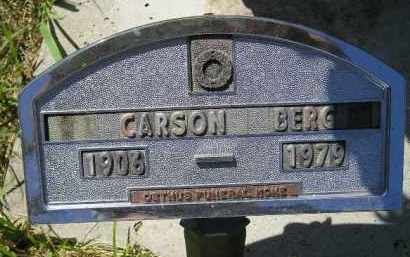 BERG, CARSON - Kingsbury County, South Dakota | CARSON BERG - South Dakota Gravestone Photos